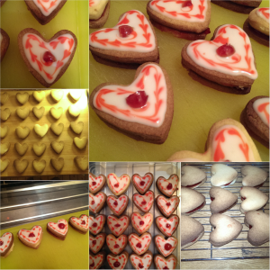 Empire biscuits with a romantic twist